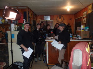 Film Crew from, 'Red Earth Uncovered'. Visits Thomas Steenburg at his home and study. Sept 19, 20116